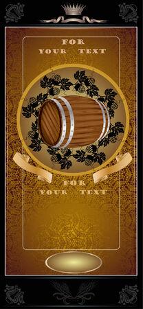 royal gold barrel Stock Vector - 7261385