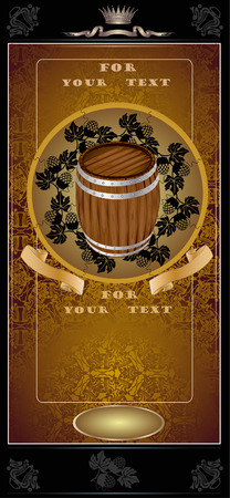 gold barrel advertising Vector