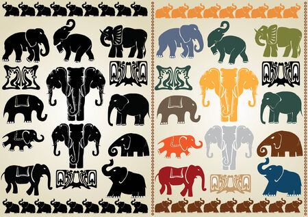 afrika: ELEFANT COLLECTION Illustration