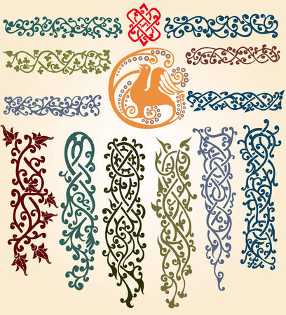 ellements: there are slavonic plants pattern and ellements