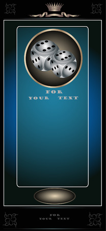 there is a card or banner casino edvertising Illustration