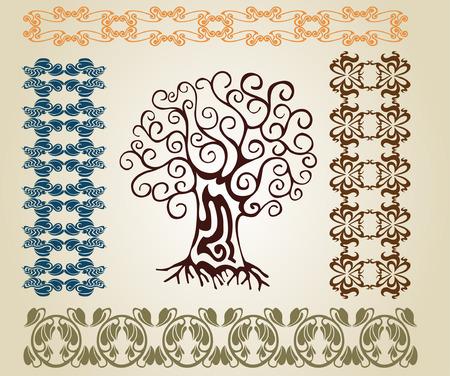 art nouveau tree Stock Vector - 7740422