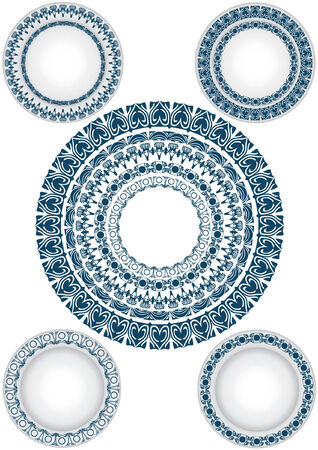 ellements: circle pattern disign plate dishes