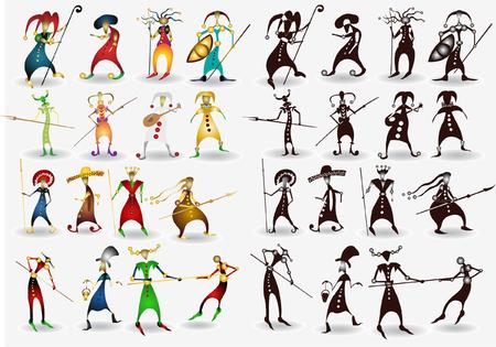 tonto: Hay muchos personaje de dibujos animados
