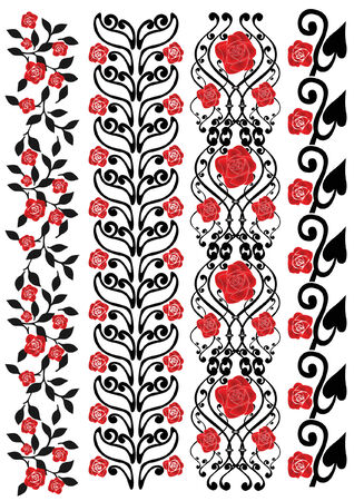 there are four rose pattern Stock Vector - 7922165
