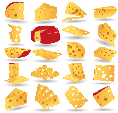 there is cheese icon collection 向量圖像