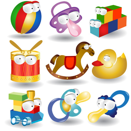 boll: baby character collection icon