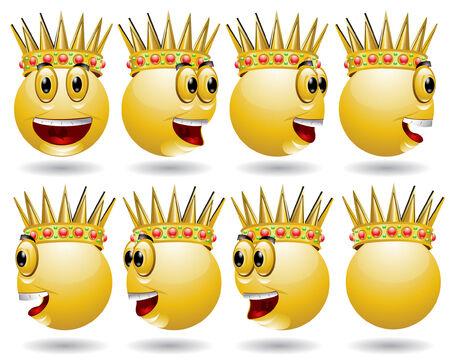 king smile web icon animation