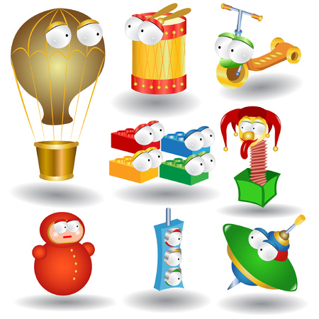 baby toys character collection icon Vector
