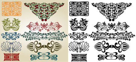 artnouveau ellements collection Stock Vector - 8142451