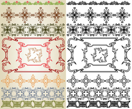 art nouveau cross element Stock Vector - 8142465