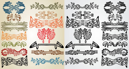 elements art nouveau pattern Stock Vector - 8142463