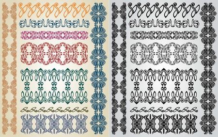 ellements: art nouveau pattern collection