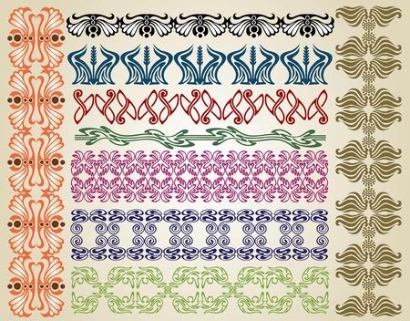 pattern art nouveau Vector