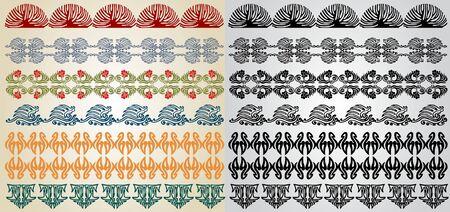 ellements: pattern element art nouveau Illustration