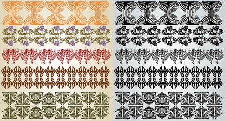 ellements: art nouveau pattern element Illustration