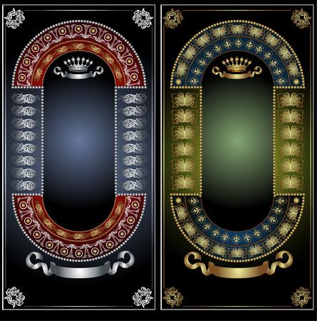 three royal advertising banner Vector