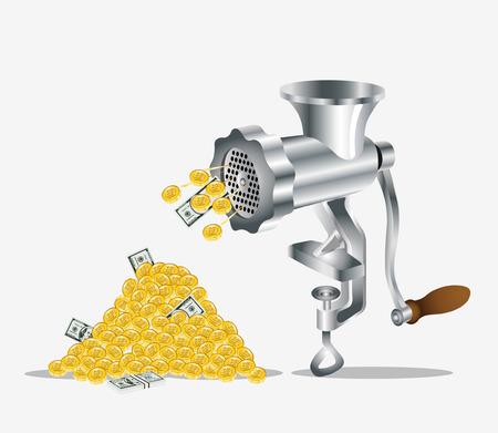 mincer: gold money dollar meat mincer