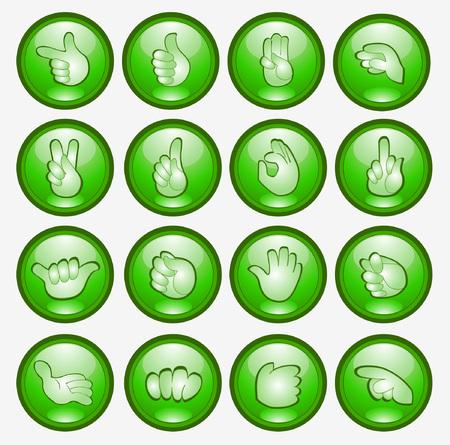 button finger hand icon web symbol Vector