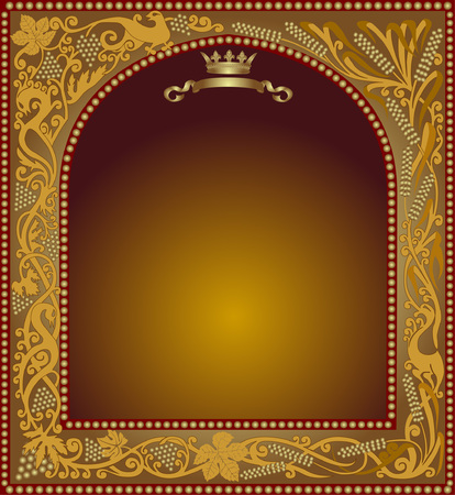 gold frame: beer advertising slavonik frame icon
