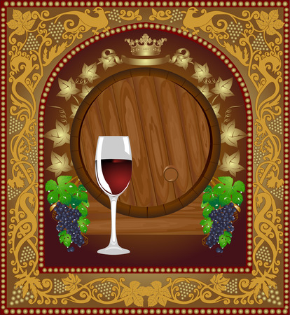 advertising wine beer banner barrel Vector