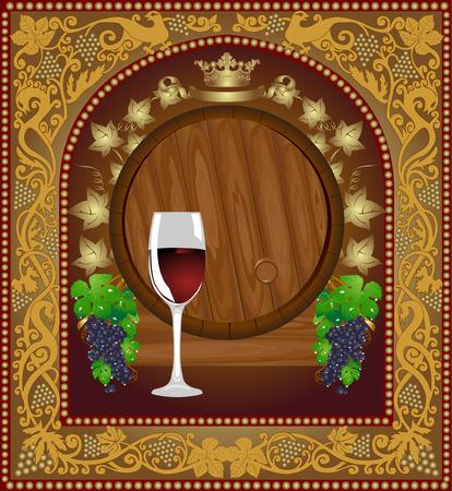 advertising wine beer banner barrel Vector