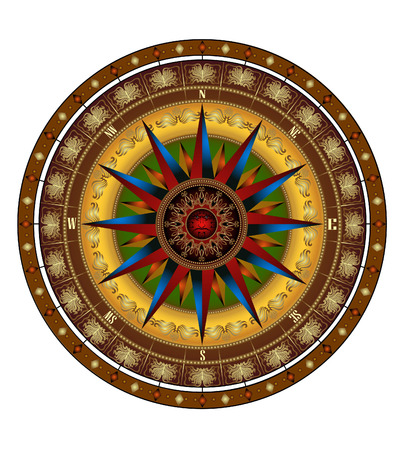 there is a compass on the white background Vector