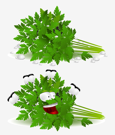 parsley character on white background