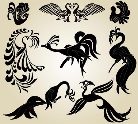 fenice: uccello Fenice slhouette