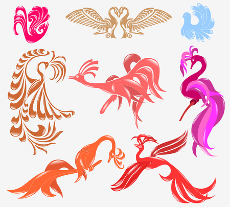 bird phoenix glossy icon Stock Vector - 8831333