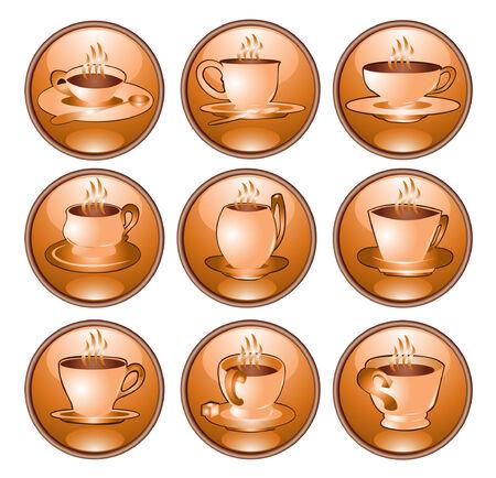 coffe tea icon Vector