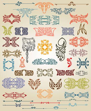 stile liberty: libro ambientato caligraphic ellement