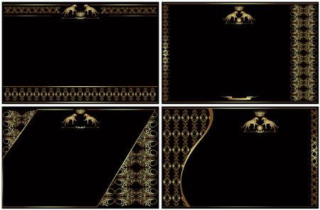 golden luxury style banner visit card Vector