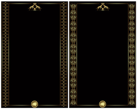 golden luxury heraldic style banner card