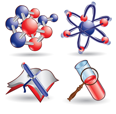 chemistry science web icon Stock Vector - 9102957