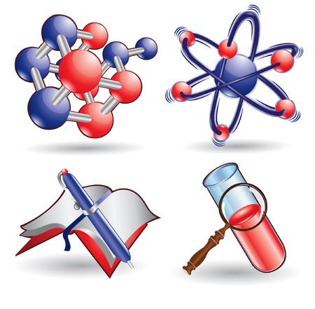atom icon: chemistry science web icon
