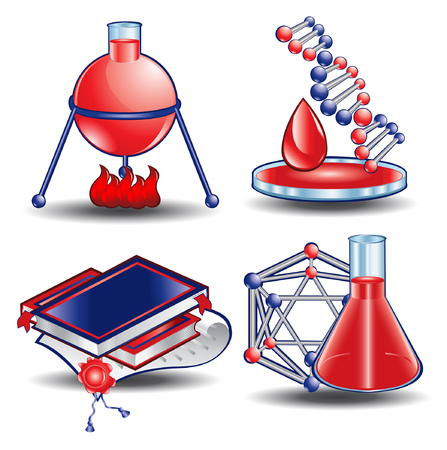 web icon book chemistry blood science