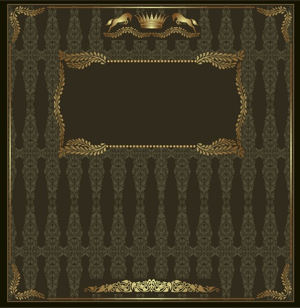 art product: royal background green luxury Rome banner