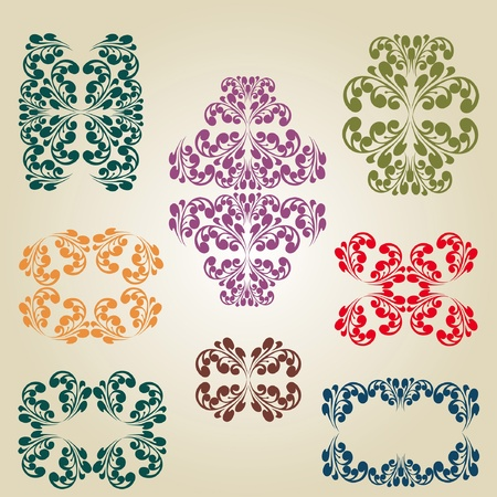 old pattern decor caligraphy Vector