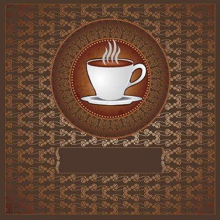 chicchi caff� su sfondo bianco: t� caff� sfondo di lusso Vettoriali