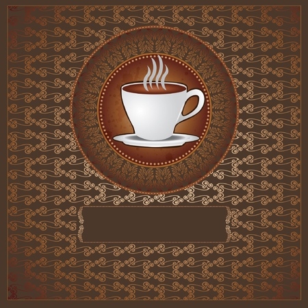 tea coffee luxury background Vector