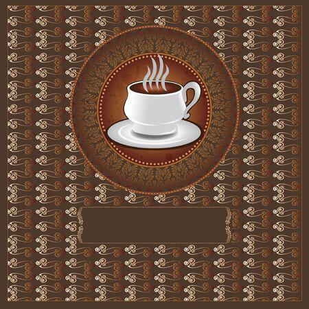 luxury background tea coffee Vector
