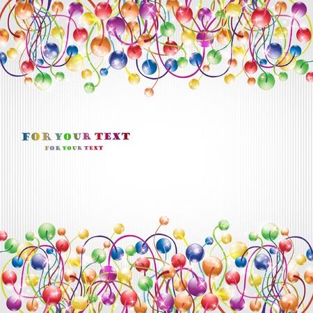 boll: glossy rainbow flower boll background