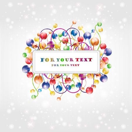 shinny: shinny rainbow baloon flower boll glossy background Illustration
