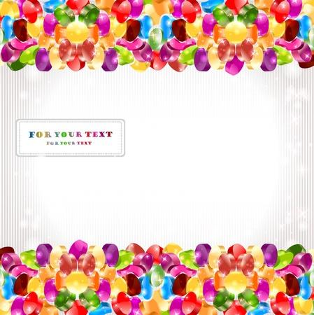 shinning: Fondo de c�rculo de dulces brillante de color arco iris