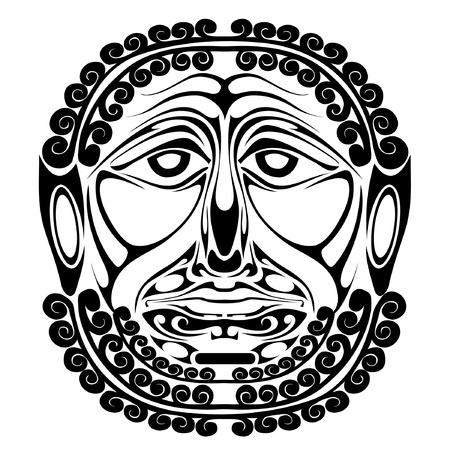 black mask face demon spirit silhouette Stock Vector - 9656681