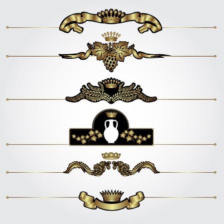 marca libros: elemento de decoraci�n de lujo oro her�ldico