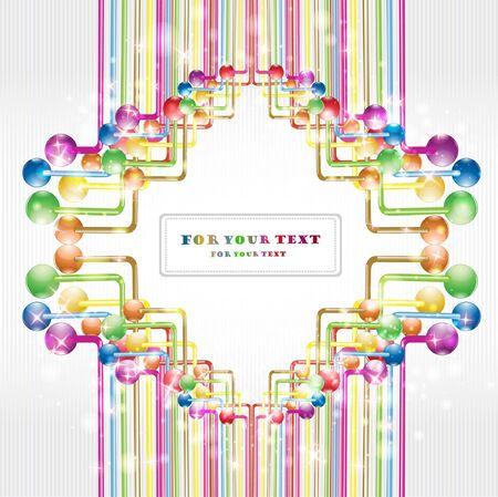 shinny: color label banner glossy background shinny Illustration