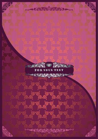 pink beckground luxury advertising Vector