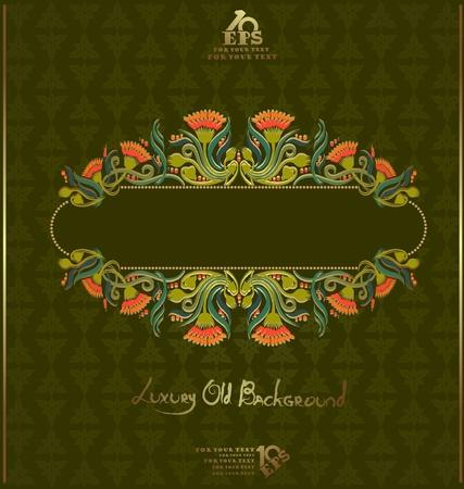 florish: old book luxury florish background